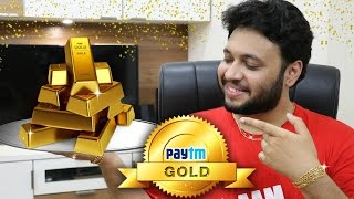 Buy and Store GOLD using Paytm | Online Digital Gold [Hindi]