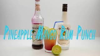 How To Make Pineapple Mango Rum Punch Cocktail