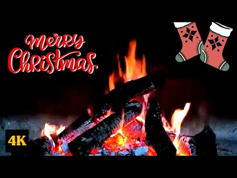 5 Hours Relaxing Christmas music and Crackling Burning Fireplace Sound [4k] | TimelapsePro