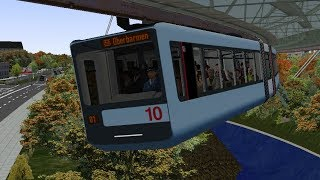 OMSI 2 | Wuppertal, Suspension Railway: Vohwinkel to Oberbarmen | GTW 15