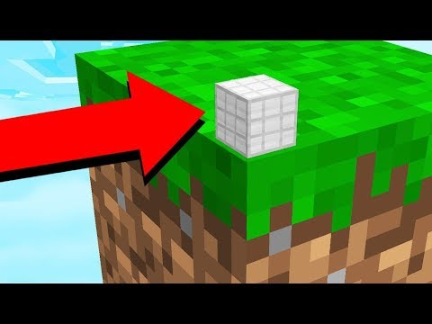 ESCAPING THE WORLDS SMALLEST MINECRAFT CUBE!