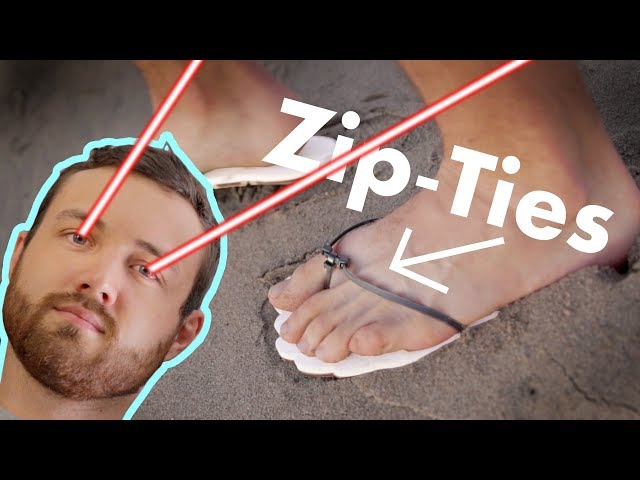 Making Sandals with Zip-Ties and a Laser