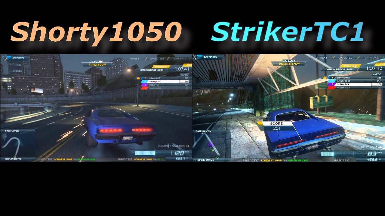 Need For Speed Most Wanted 2012 Multiplayer Split Screen Gameplay