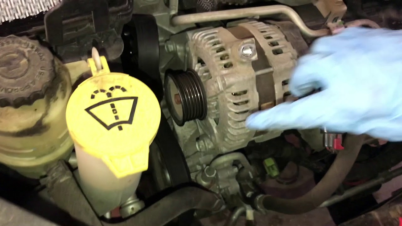 How To Change An Alternator >> Replace/Change Alternator on 2008 Chrysler Town and ...