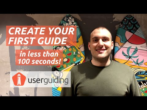 How to Create Your First User Onboarding Guide in Less Than 100 Seconds with UserGuiding!