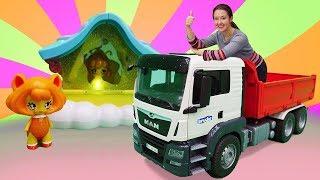 Мультики для малышей. Большие машинки и феи. Игрушки для детей