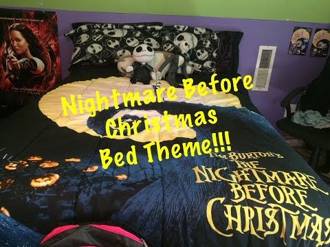 NIGHTMARE BEFORE CHRISTMAS THEMED BED! ( Unboxing &set up)