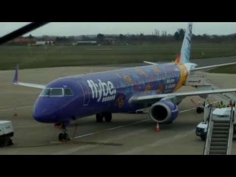 ONBOARD - Flybe E195 BE4413 Doncaster Sheffield to Amsterdam (FULL FLIGHT)