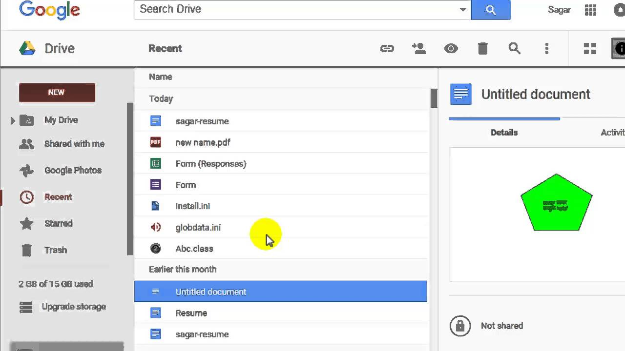 How To Clear Recent In Google Drive Youtube