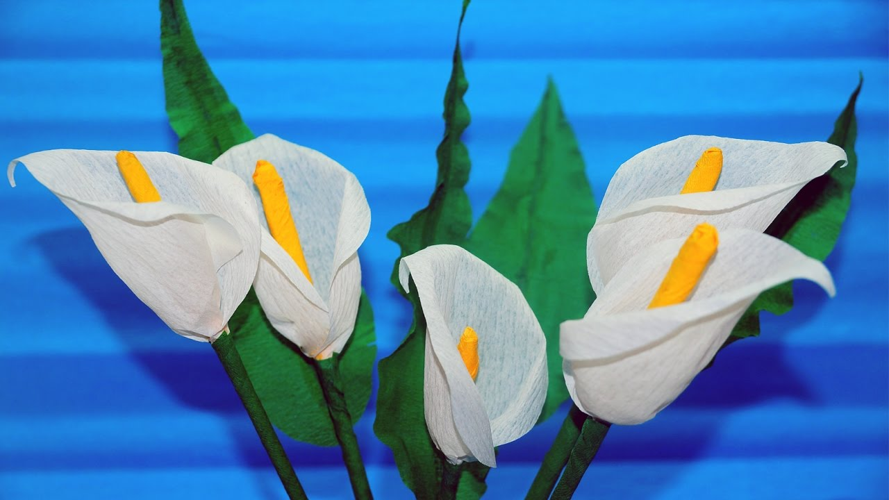 calla lily paper craft easy flowers how to make calla flower from 3492