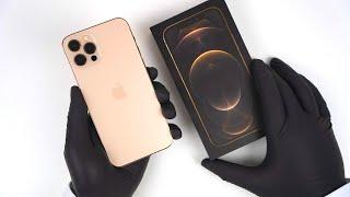 Apple iPhone 12 Pro Gold Unboxing - ASMR