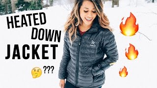 HEATED DOWN JACKET?? Ravean Review + GIVEAWAY! | Ariel Hamilton