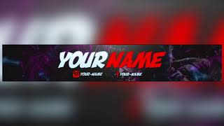 Free Youtube Banner Template #1