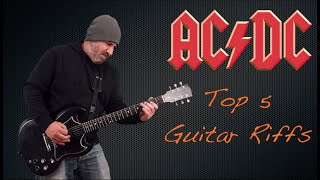 AC/DC Top 5 (Guitar Riffs)