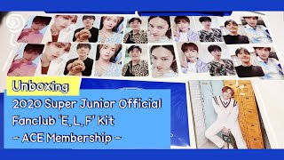 [Unboxing] 2020 SuperJunior Official Fanclub 'E L F' Kit - A…