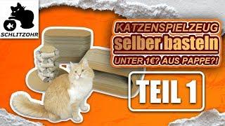 🔥Katzenspielzeug selber basteln   Unter 1€?!   Teil 1 von 2   Diy Katzenspielzeug Hacks
