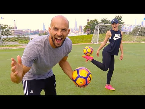 GIRLS OR BOYS - Who's Better at Football? vs INDI COWIE!