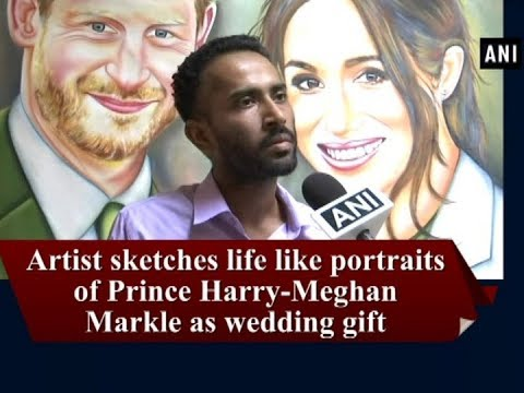 Artist sketches life like portraits of royal couple as wedding gift - Punjab News