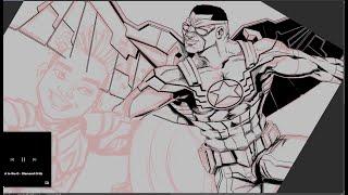 Falcão e o Soldado invernal | desenhando no Clip Studio Paint _ parte 1
