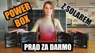 POWER BOX  z panelem solarnym :) ZRÓB TO SAM
