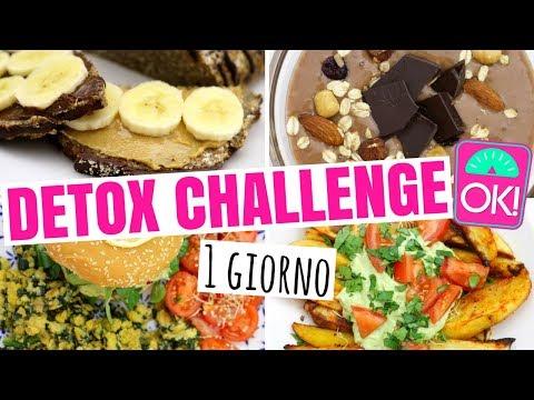 DIETA DETOX MENU 3 GIORNI CHALLENGE / DIMAGRIRE SENZA DIETA / 1 GIORNO DI 3