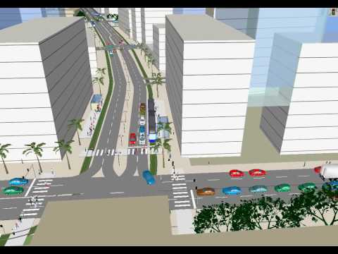 Proposed LRT Route in BSB Video Simulation