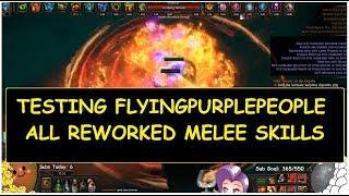 Testing FlyingPurplePeople with All Reworked Melee Skills ft New Pain Bane demi 39 splains