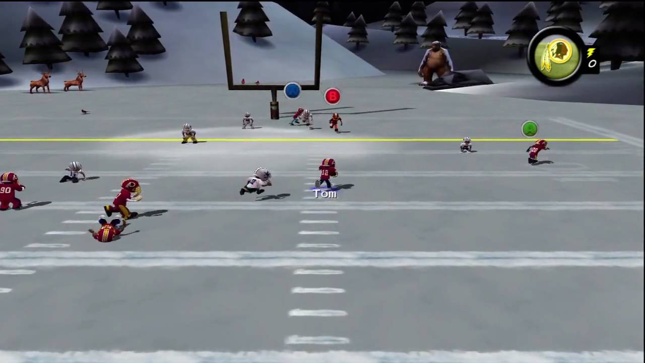 backyard football 39 10 xbox 360 hd gameplay redskins vs cowboys