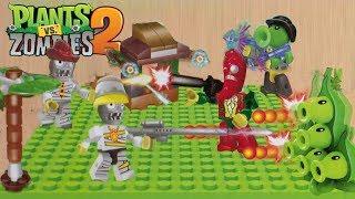Plants vs Zombies PVZ 2 Ancient Egypt Max Level Peashooter Chilly Pepper vs Mummy Zombies Lego DIY thumbnail