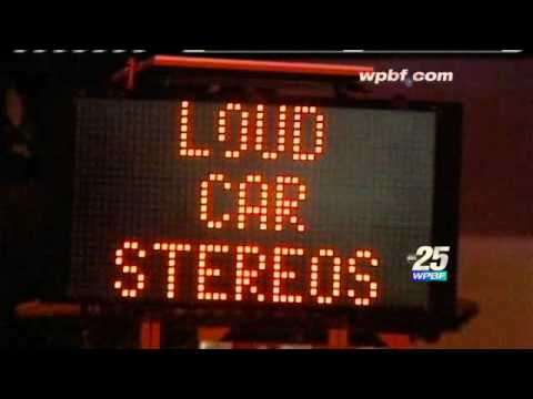 Signs Warn Drivers Of Fines For Playing Music Too Loud