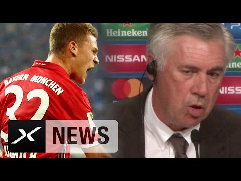 "Carlo Ancelotti: Joshua Kimmich? ""Kann alles spielen"" | FC Bayern München - FK Rostow 5:0"