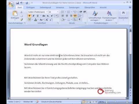 Microsoft Word Tutorial Deutsch Absatzformatierung - YouTube