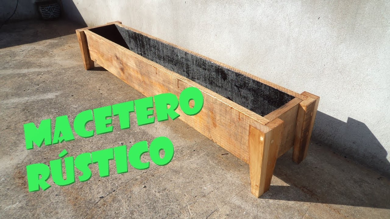 macetero rustico de madera rustic planter youtube