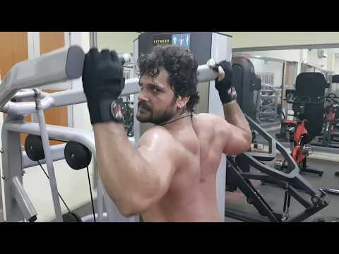खेसारी लाल यादव GYM से Live - Khesari Lal Yadav Live From GYM - EXERCISE