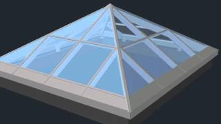 Зенитный фонарь 4800х5450мм. 3D визуализация снаружи.(Выполним 3D визуализацию сложных пространственных конструкций (зимние сады, зенитные фонари и т.д.). В масшта..., 2015-01-27T18:45:51.000Z)