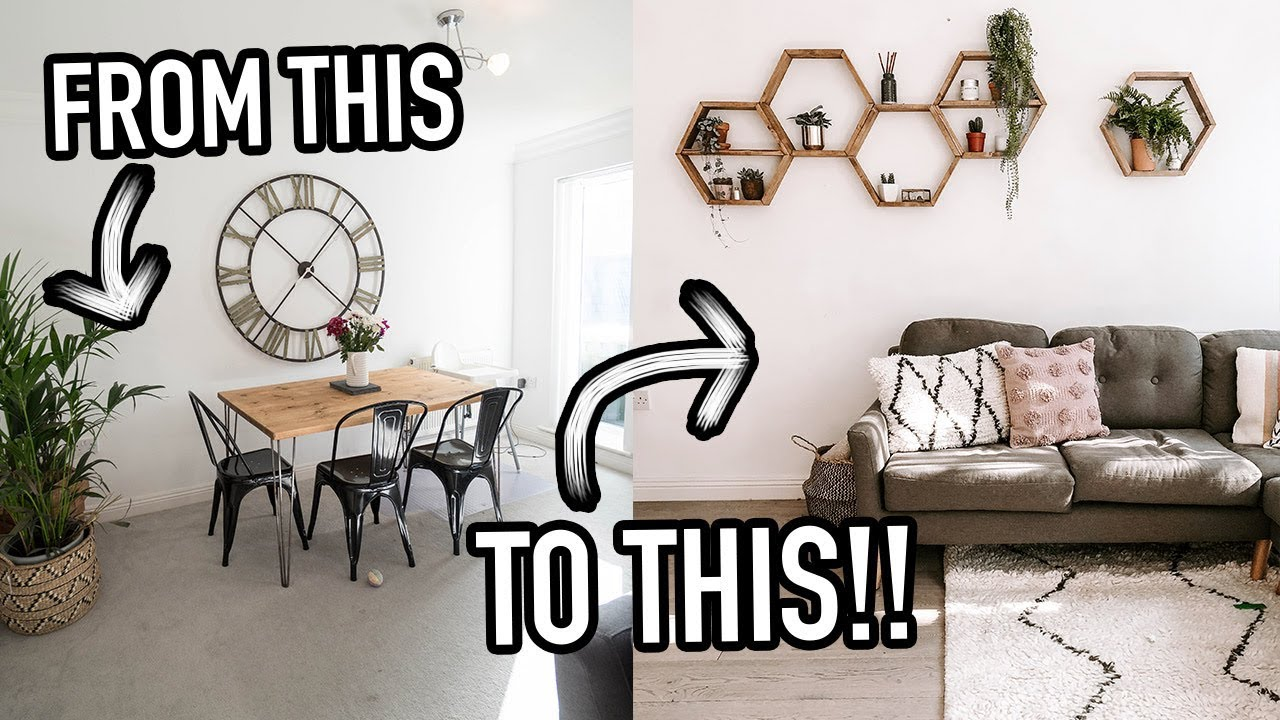 LIVING ROOM TRANSFORMATION! IT LOOKS SO DIFFERENT!!!!