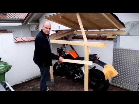 wir bauen eine tiny garage kleine garage f r die ktm 125 duke teil 2 youtube. Black Bedroom Furniture Sets. Home Design Ideas
