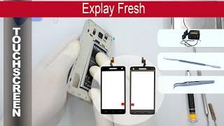 How to replace 🔧 digitizer (sensor) 📱 Explay Fresh, Tutorial
