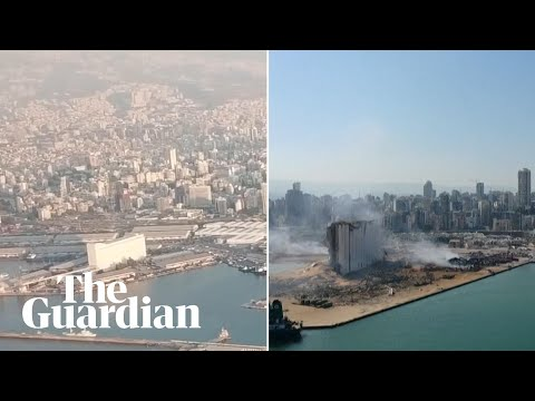 Beirut before and after: drone footage shows devastation caused by explosion