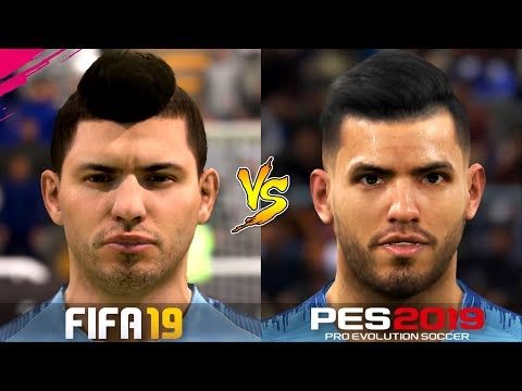 FIFA 19 Vs. PES 2019 | Player Faces | English Premier League | Gameplay Comparison