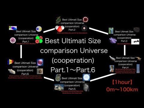 Best Ultimati size comparison Universe (cooperation) Part.1~Part.6 [1hour]