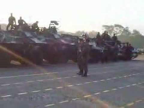 Military readies tanks at Camp Aguinaldo
