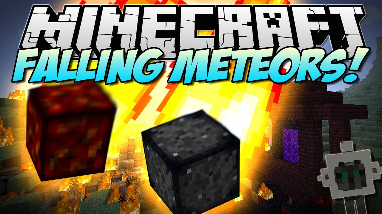 Minecraft Falling Meteors Destruction From The Sky