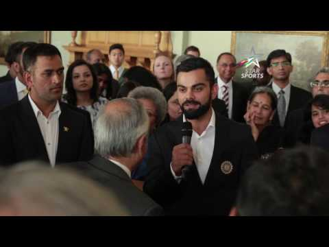 Team India meet the Indian High Commissioner to UK