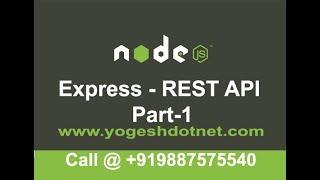 Set up of express , nodemon and postman   REST API Using Express Part-1   Hindi