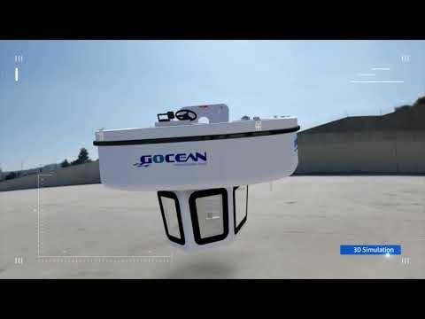 MOVING AQUARIUM !!! compact semi submarine PENGUIN 2.1 Outboard(FLYING PENGUIN)(소형 반잠수 레저보트/반잠수정)