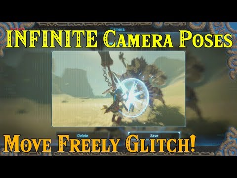 INFINITE Camera Poses! Move Freely GLITCH! Hyrule Cable TV Network in Zelda Breath of the Wild