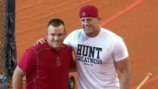Watt showcases power in batting practice