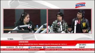 Entrevista a Unknown en Radio Exitosa