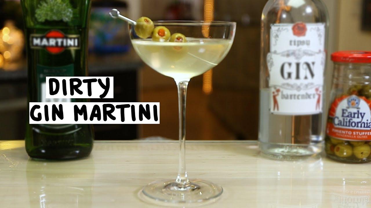 Dirty Gin Martini  Tipsy Bartender